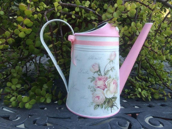 Watering Can Decoupage Watering Can Decorative Watering Can