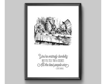 Digital Print - Alice In Wonderland - Entirely Bonkers