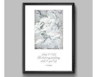 Digital Print - Peter Pan - What If I Fall