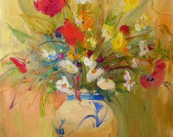 Art print,flower,floral,giclee print,La douceur de l'amour,limited edition giclee print,signed by the artist,fine art quality paper