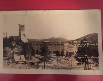Vintage Post Card - Early 1900s - Ross Hoist Mining Co. in Lead, S.D