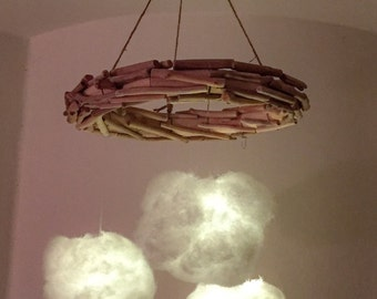 Driftwood Dream Cloud Light Mobile