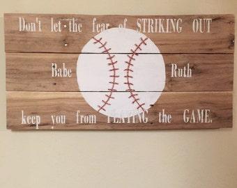 Pallet Baseball Decor