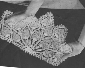 144 PDF Pineapple Fan Doily Crochet Pattern, Fan Chair Back and Arm Doilies Pattern, PDF Download, Home Decor, Retro Decorating