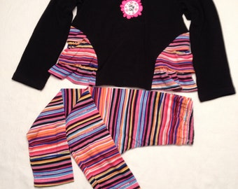 Girls clothing, handmade, only one, Girls Top & Pants size 5-6
