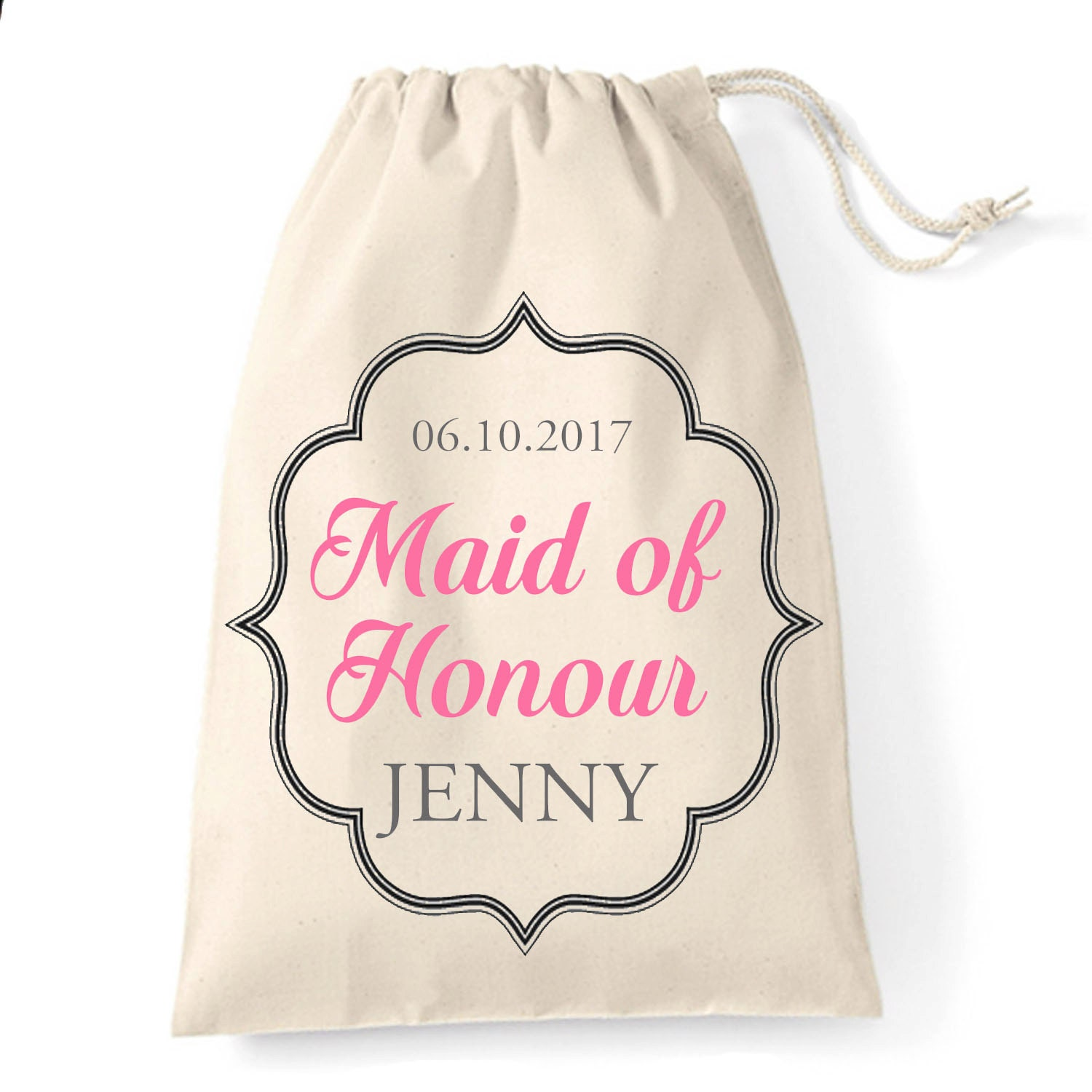 Personalised Wedding Thank You Gift Bags : Maid of Honour thank you gift bag Personalised wedding
