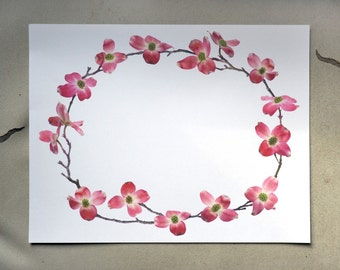 Pink Dogwood Flowers Printable Border