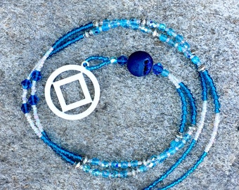 Blue and White - Druzy - NA Necklace
