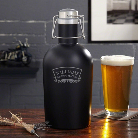 Wedding Gift Ideas For Beer Lovers : Timeless Wedding Blackout Beer Growler - Great Gift for Groomsman ...