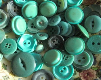 Spearmint Green and Grey Vintage Buttons,Found object,Moodboard Making,Embelishment,Upcycle,Button Craft,DIY Craft,Gift,Doll, Adornment