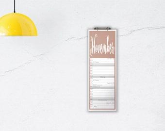 Classic Calendar 'STEELHEART', planar // A3