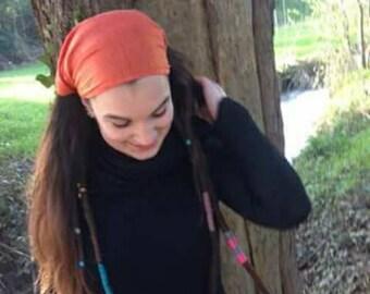 Dreadlock headband. Hippie headband. Dreadlock head band.