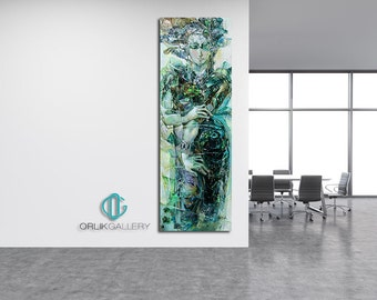 """Print of an Artwork Titled: """"Emerald"""", High Quality Canvas"""