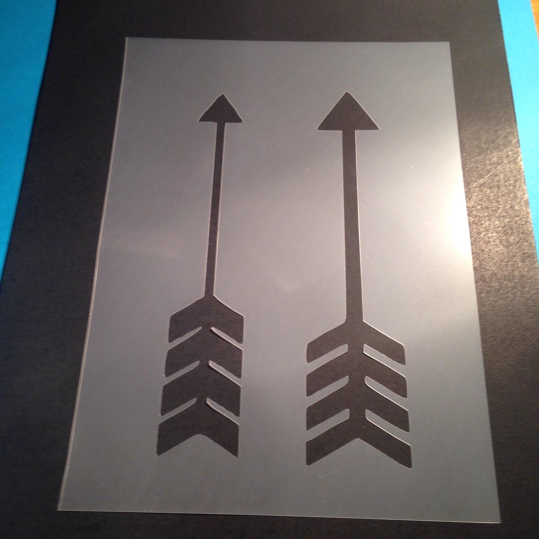 arrows stencil template card making plaque design mylar. Black Bedroom Furniture Sets. Home Design Ideas