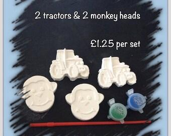 Monkey & Tractor paint kit