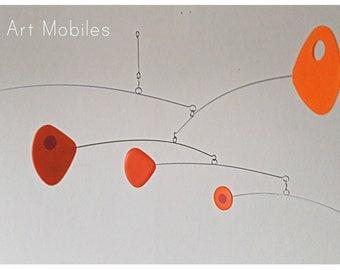 Mobile Modern Orange Kinetic Retro Mobile