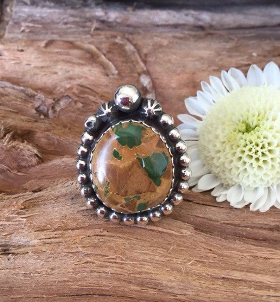Green ribbon turquoise ring royston turquoise ring artisan for Royston ribbon turquoise jewelry