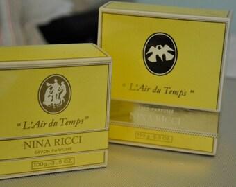 Vintage Nina Ricci L'Air du Temps Soap and Perfumed Talc
