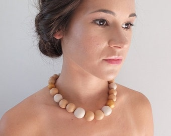 ON SALE 25% OFF Statement necklace, chunky beaded necklace, elegant necklace, big beads necklace, unique necklace, winter necklace, bold nec