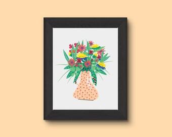 """Print / Illustration - """"bouquet"""" - A4"""
