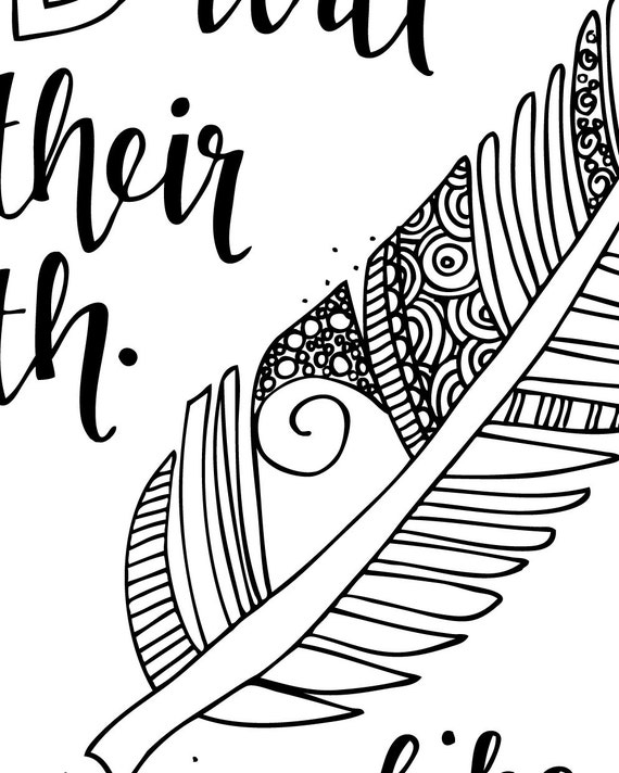 Isaiah 40 31 coloring page coloring pages for Isaiah told about jesus coloring page