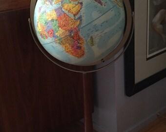 Vintage Standing Globe / Standing Replogle 12 Inches Globe / Standing World Globe