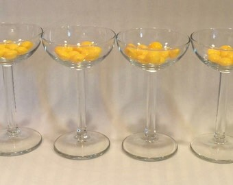 Set of Four Vintage Cordial/Aperitif/Sherry Glasses