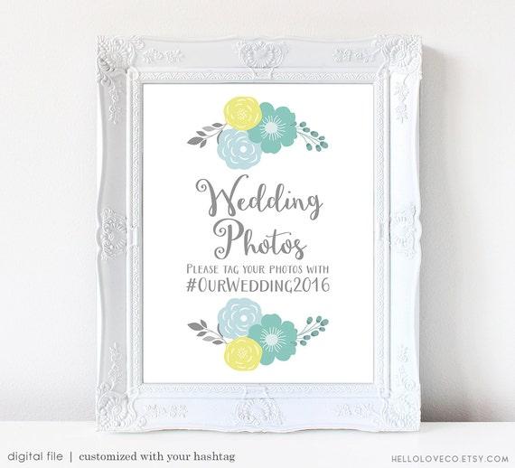 Spanish Wedding Hashtags: PRINTABLE Wedding Hashtag Sign