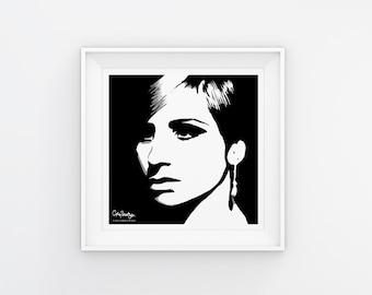 Barbra Streisand Art Print Download