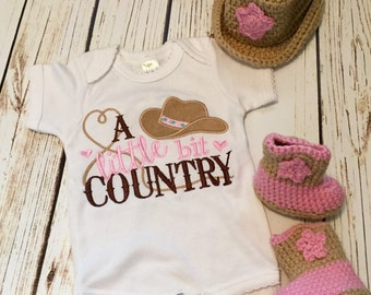 A little bit country romper, country girl outfit, cowgirl romper, cowgirl shirt, baby western onepiece