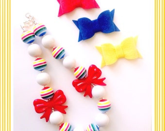 Primary Colors Back to School Chunky Bead Necklace