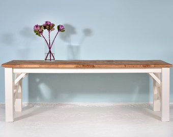 Conference table made of recycled lumber SAMARITAN