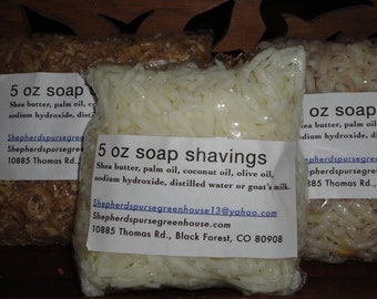 Two packages of 5 oz. soap shavings