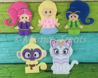 Set of 5 Finger Puppets - Inspired by childrens genie show