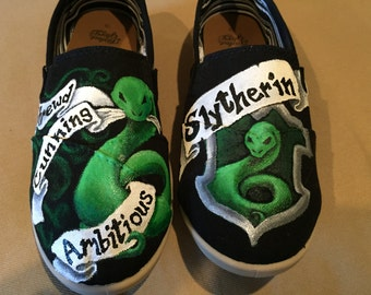 Slytherin House Hand Painted Shoes