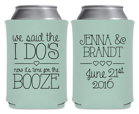 wedding can coolers beverage insulators custom by thatwedshop
