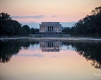 Lincoln Memorial Print, Washington DC Photography, Canvas Print, Paper Print, Washington DC Art, Home Decor, Office Decor