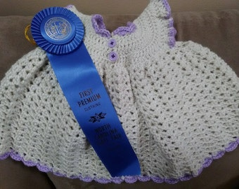 White Baby Crochet Dress