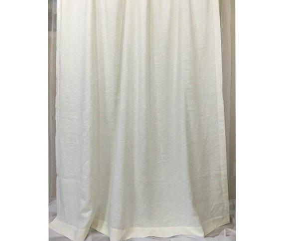 White Linen Shower Curtains Mildew Free 72x72 72x85