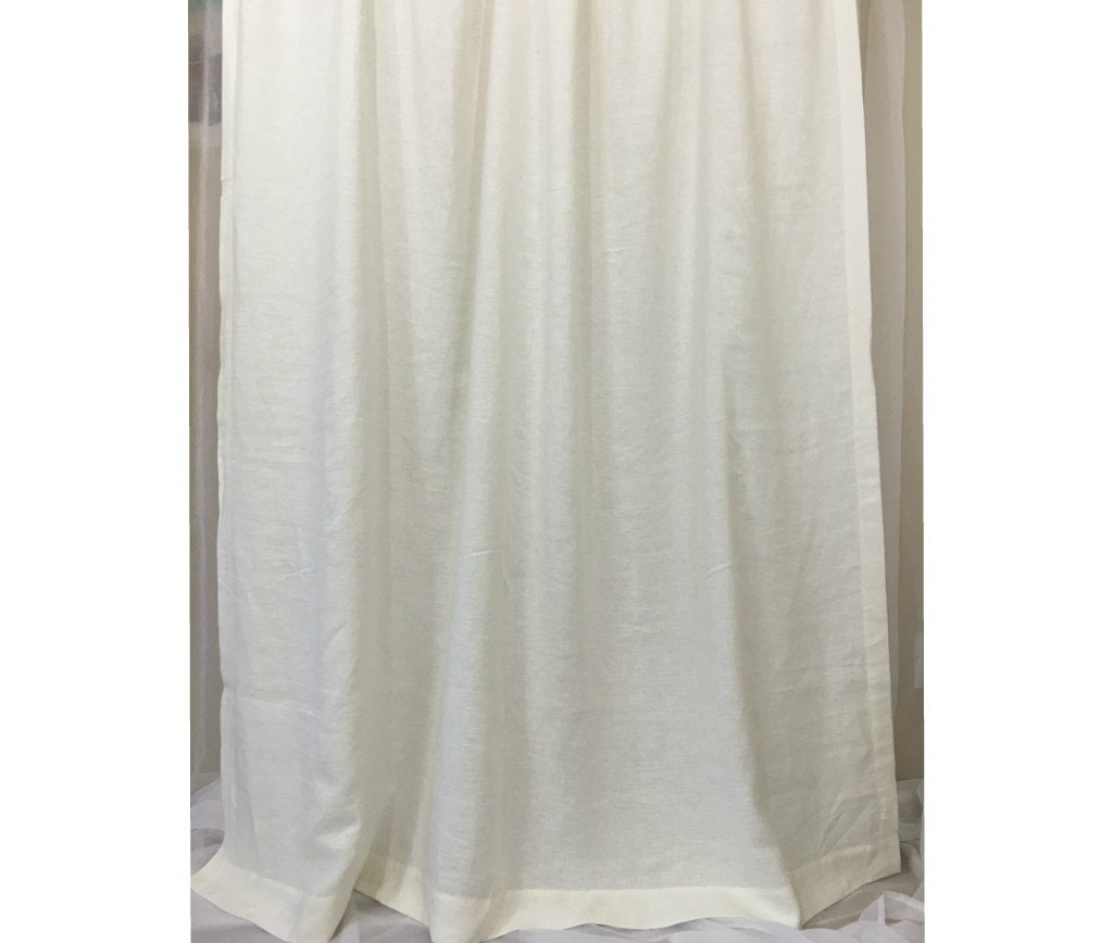 white linen shower curtains mildew free 72x72 72x85. Black Bedroom Furniture Sets. Home Design Ideas