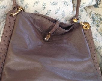 Vintage Lorenzi Calfskin Purse Handbag