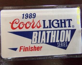 Key Ring - 1989 Coors Light Biathlon Series Finisher