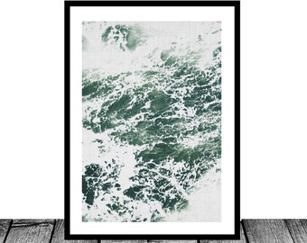 Ocean Print, Ocean Waves, Ocean Art, Beach Print, Beach Decor, Ocean Water, Ocean Photography, Navy Ocean, Ocean Water Print, Ocean Decor