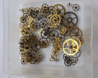 Approximately 100 Pocket watch train wheels