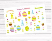 38 Easter theme decorating || Kiss-cut planner stickers