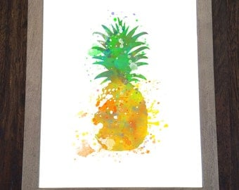 Watercolor print - Fruit print - Pineapple print - Pineapple Watercolor