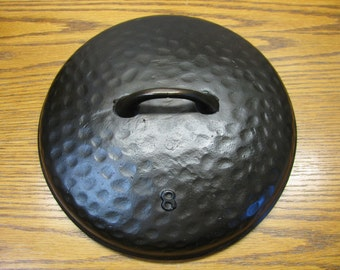 Cast Iron Heavy Ugly Hammered Lid #8