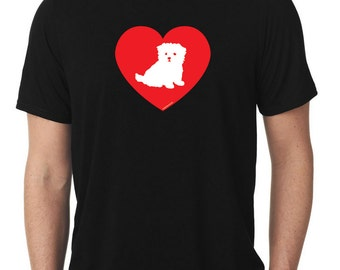 Love Maltese T-Shirt puppy v2 T142