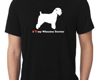 I Love My Wheaten Terrier T-Shirt wheatie T1003
