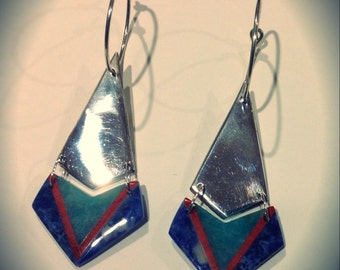 Semi precious and Sterling Silver earrings